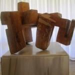 Escultura Abesti Gogora IV. Eduardo Chillida