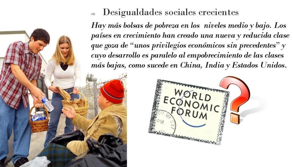 Desigualdades sociales crecientes