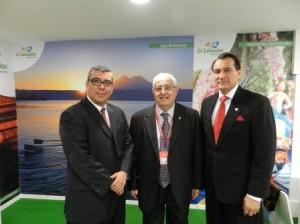 Reunión en FITUR 2014 de Jesús Felipe Gallego, presidente Grupo ISTur, con Walter Alemán, viceministro de Turismo de El Salvador y José Atilio Benítez, embajador de El Salvador en España