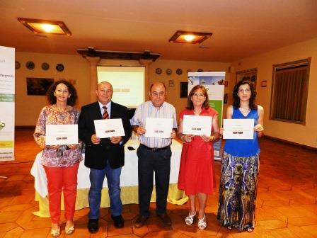 De izquierda a derecha: Ana María Massó Heras, Manuel Cantarero González, Enrique L. Blanch Domingo, Clotilde Sánchez Olmedilla y Riánsares López Cortés