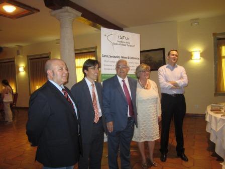 Manuel Cantarero González, Carlos Romero Dexeus, Jesús Felipe Gallego, Vilma Sarraff y Jesús Jaén, Coordinador Provincial de los Servicios Periféricos en Cuenca