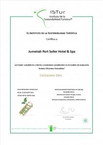 Hotel Sostenible_ Categoría Oro_ISTur