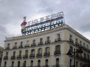 Anuncio Tío Pepe, Puerta del Sol, Madrid
