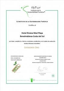 Diplomas Hotel Sostenible_RIVIERA