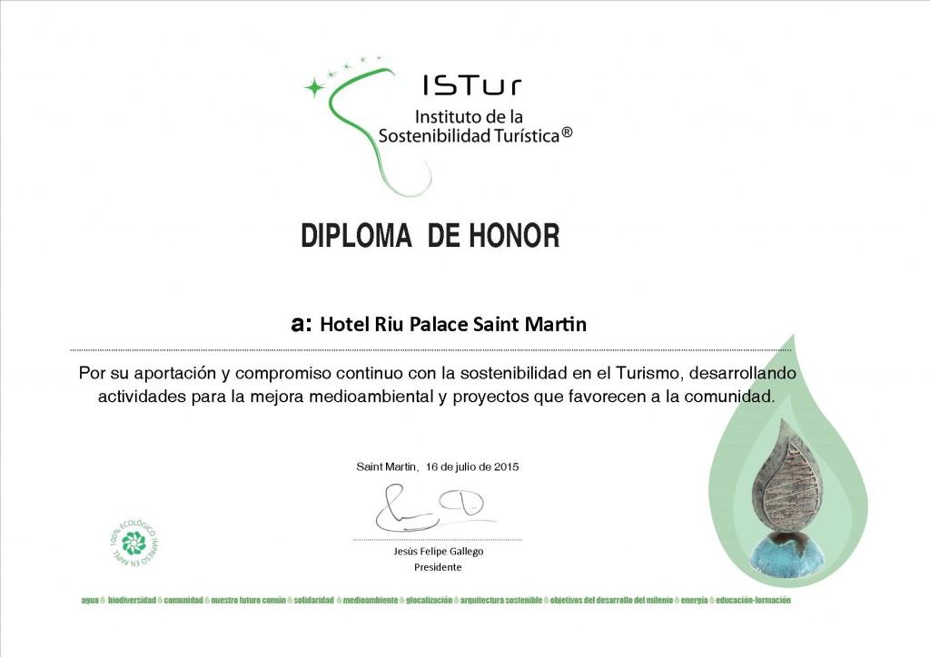 Diplomas Compromiso ISTur_RIU